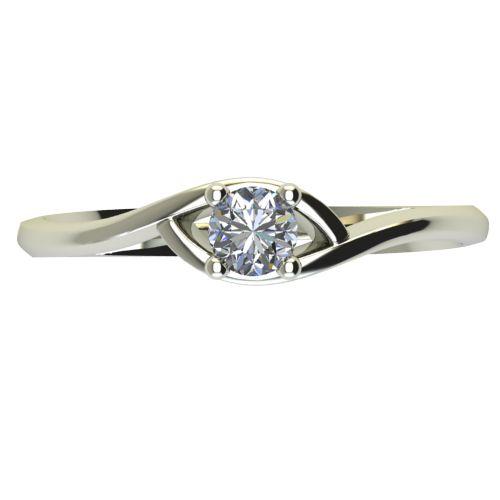 Годежен Пръстен бяло злато с диамант Mini 0,04 ct. 2303 a
