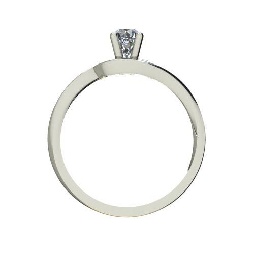 Годежен Пръстен бяло злато с диамант Mini 0,04 ct. 2303 b