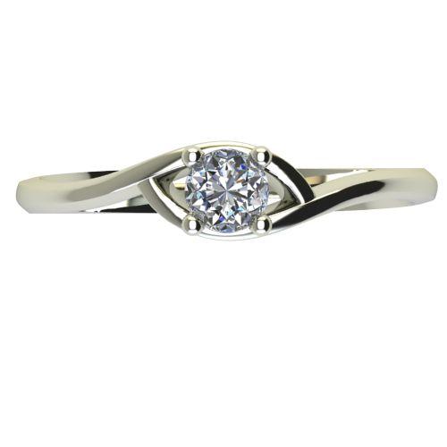 Годежен Пръстен бяло злато с диамант Mini 0,07 ct. 2304 a