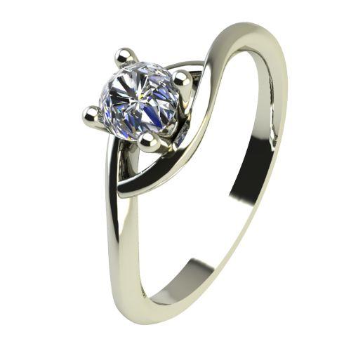 Годежен Пръстен бяло злато с диамант Mini 0,07 ct. 2304