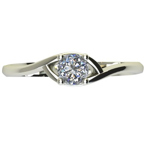 Годежен Пръстен бяло злато с диамант Mini 0,12 ct. 2305 a