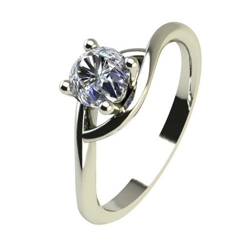 Годежен Пръстен бяло злато с диамант Mini 0,12 ct. 2305