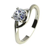 Годежен Пръстен бяло злато с диамант Mini 0,17 ct. 2306