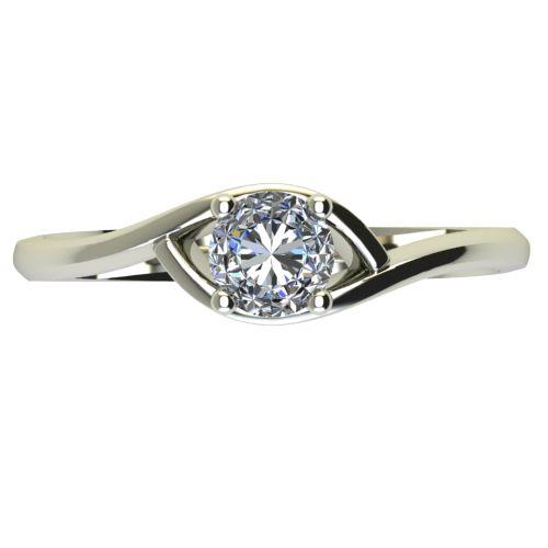Годежен Пръстен бяло злато с диамант Mini 0,17 ct. 2306 a