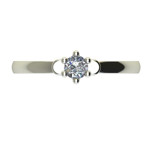 Годежен Пръстен бяло злато с диамант Piece 0,04 ct. 2315 a