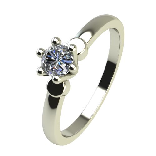 Годежен Пръстен бяло злато с диамант Piece 0,04 ct. 2315