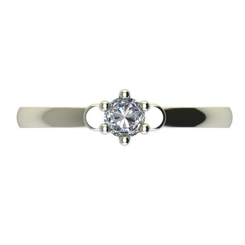 Годежен Пръстен бяло злато с диамант Piece 0,07 ct. 2316 a