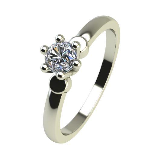 Годежен Пръстен бяло злато с диамант Piece 0,07 ct. 2316