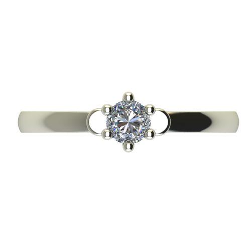 Годежен Пръстен бяло злато с диамант Piece 0,12 ct. 2317 a