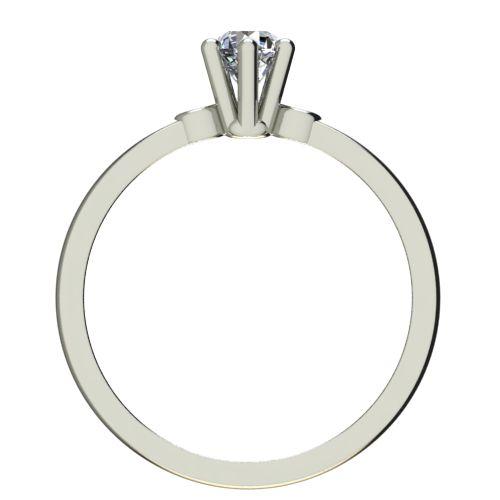 Годежен Пръстен бяло злато с диамант Piece 0,12 ct. 2317 b