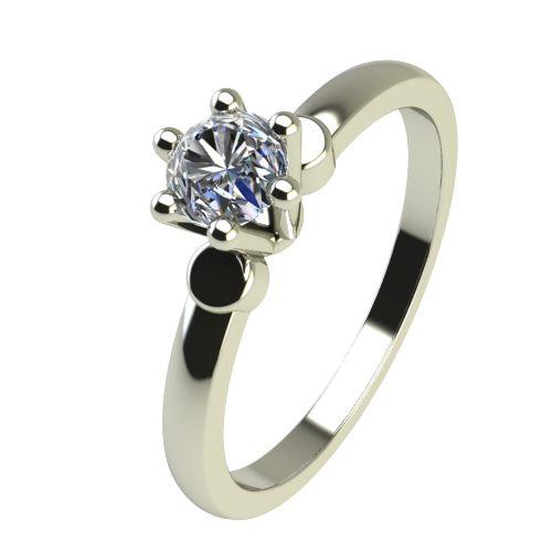 Годежен Пръстен бяло злато с диамант Piece 0,12 ct. 2317