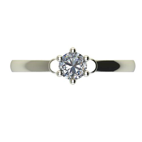 Годежен Пръстен бяло злато с диамант Piece 0,17 ct. 2318 a