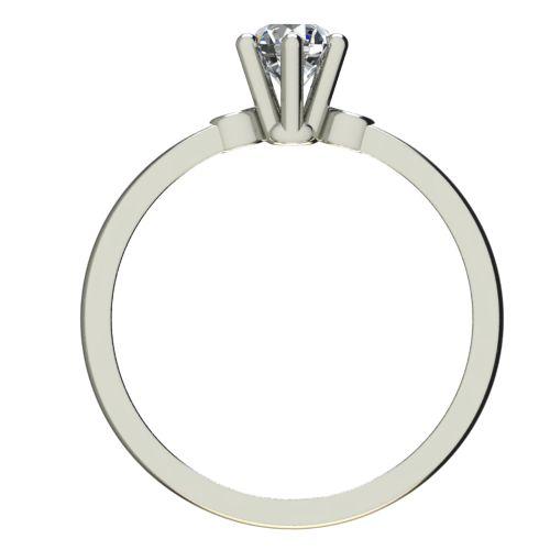 Годежен Пръстен бяло злато с диамант Piece 0,17 ct. 2318 b