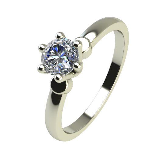 Годежен Пръстен бяло злато с диамант Piece 0,17 ct. 2318