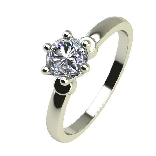 Годежен Пръстен бяло злато с диамант Piece 0,25 ct. 2319