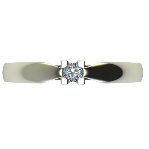 Годежен Пръстен бяло злато с диамант Thin 0,04 ct. 2283 a