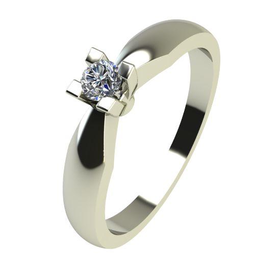 Годежен Пръстен бяло злато с диамант Thin 0,04 ct. 2283
