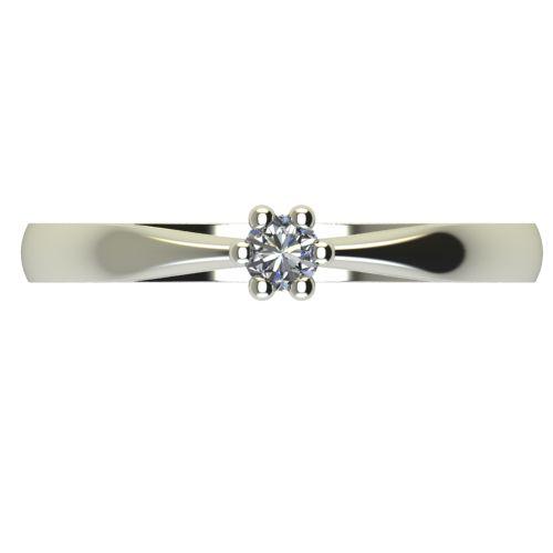 Годежен Пръстен бяло злато с диамант Thin 0,04 ct. 2307 a