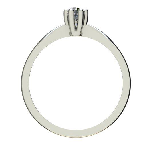 Годежен Пръстен бяло злато с диамант Thin 0,04 ct. 2307 b