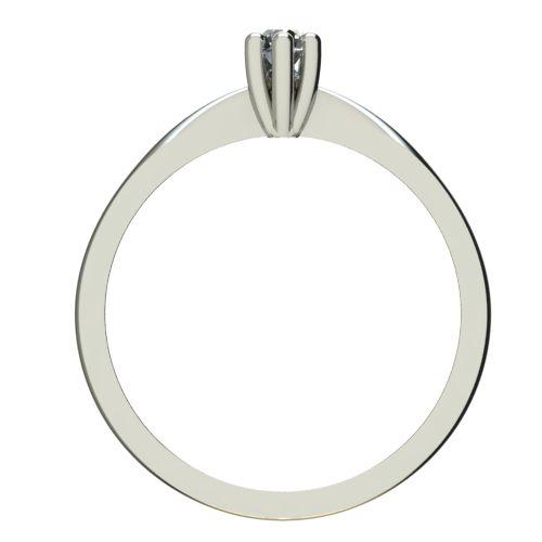 Годежен Пръстен бяло злато с диамант Thin 0,04 ct. 2311 b