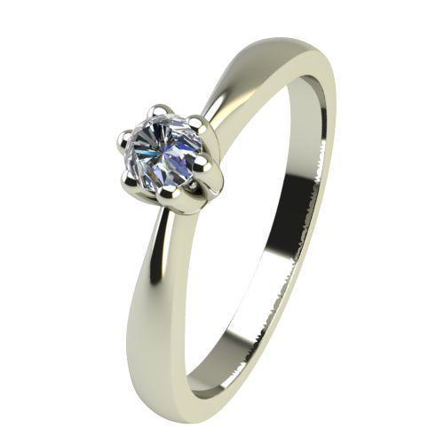 Годежен Пръстен бяло злато с диамант Thin 0,04 ct. 2311