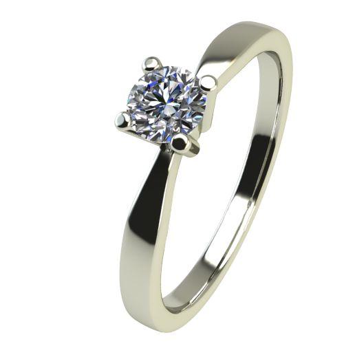 Годежен Пръстен бяло злато с диамант Thin 0,04 ct. 2320