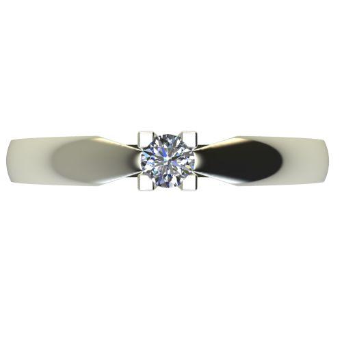 Годежен Пръстен бяло злато с диамант Thin 0,07 ct. 2284 a