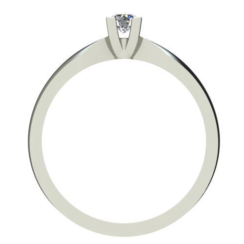 Годежен Пръстен бяло злато с диамант Thin 0,07 ct. 2284 b