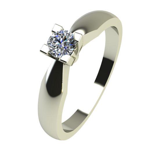 Годежен Пръстен бяло злато с диамант Thin 0,07 ct. 2284
