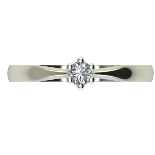 Годежен Пръстен бяло злато с диамант Thin 0,07 ct. 2312 a