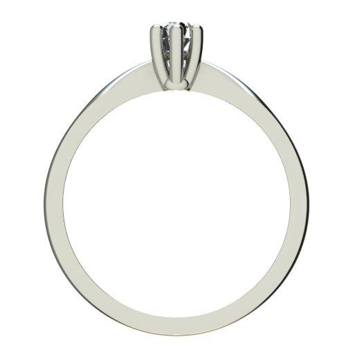Годежен Пръстен бяло злато с диамант Thin 0,07 ct. 2312 b