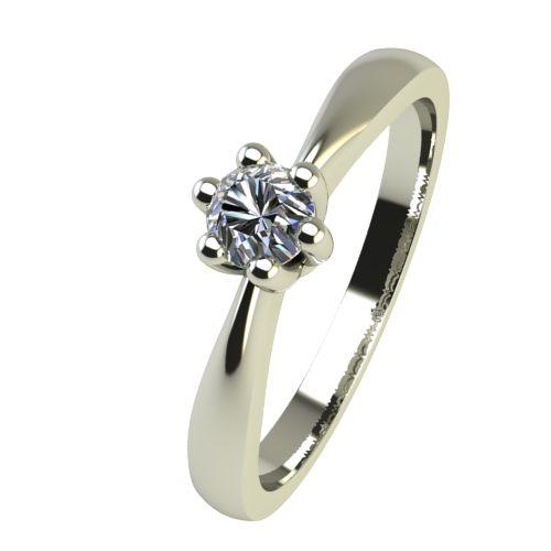 Годежен Пръстен бяло злато с диамант Thin 0,07 ct. 2312
