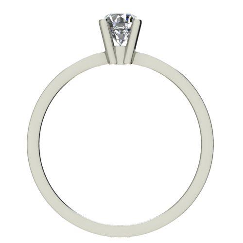 Годежен Пръстен бяло злато с диамант Thin 0,07 ct. 2321 b
