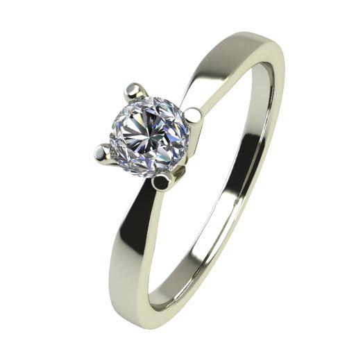 Годежен Пръстен бяло злато с диамант Thin 0,07 ct. 2321