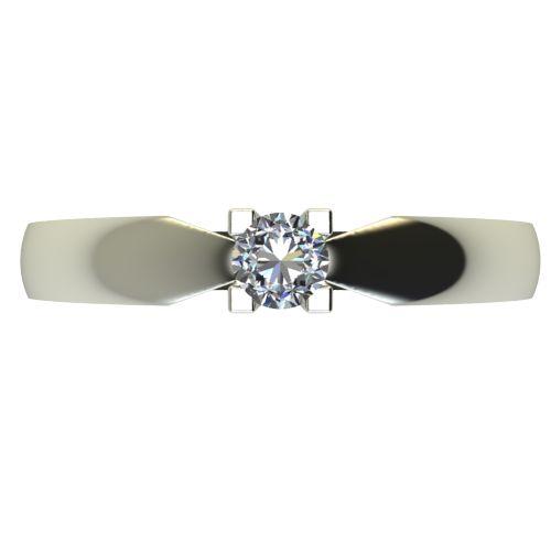 Годежен Пръстен бяло злато с диамант Thin 0,12 ct. 2285 a