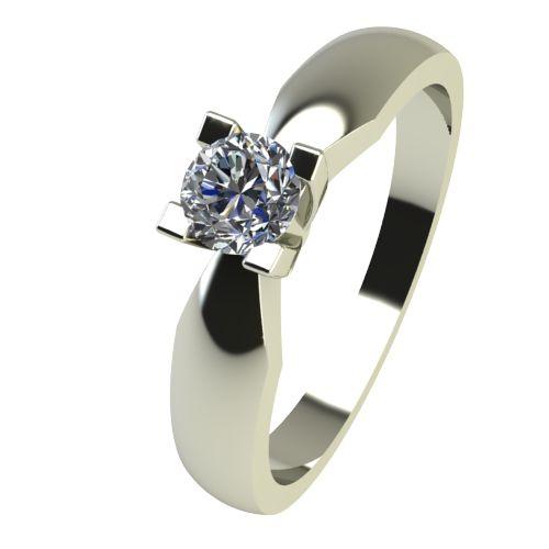 Годежен Пръстен бяло злато с диамант Thin 0,12 ct. 2285