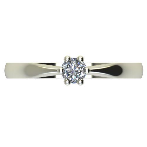 Годежен Пръстен бяло злато с диамант Thin 0,12 ct. 2309 a