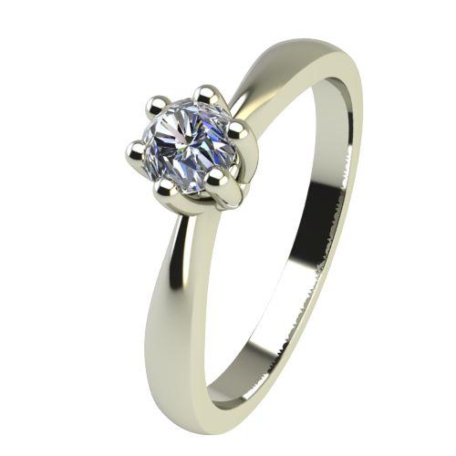 Годежен Пръстен бяло злато с диамант Thin 0,12 ct. 2309