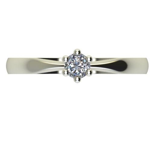 Годежен Пръстен бяло злато с диамант Thin 0,12 ct. 2313 a
