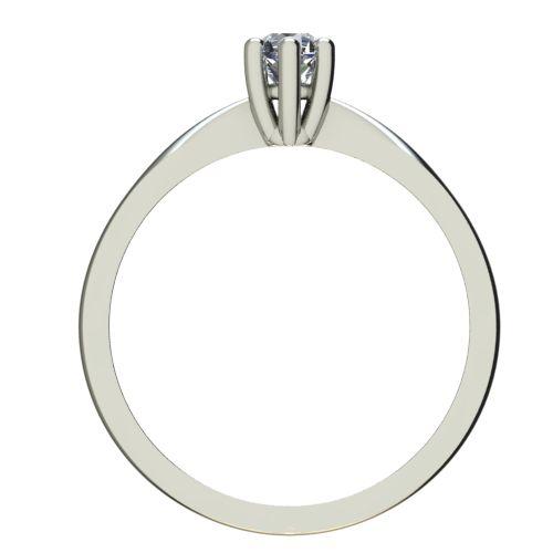 Годежен Пръстен бяло злато с диамант Thin 0,12 ct. 2313 б