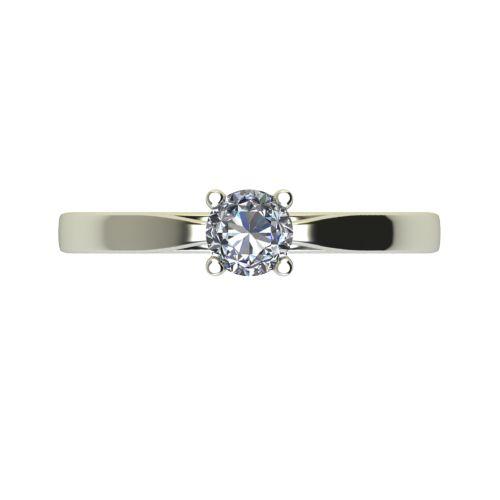 Годежен Пръстен бяло злато с диамант Thin 0,12 ct. 2322 a
