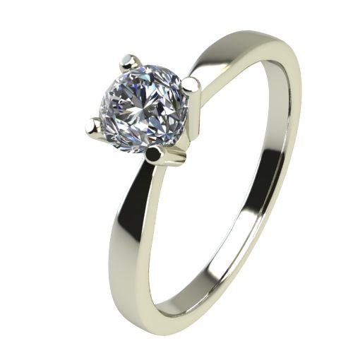 Годежен Пръстен бяло злато с диамант Thin 0,12 ct. 2322