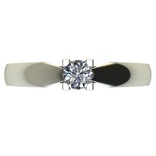 Годежен Пръстен бяло злато с диамант Thin 0,17 ct. 2286 a