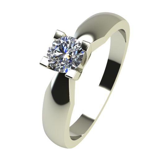 Годежен Пръстен бяло злато с диамант Thin 0,17 ct. 2286