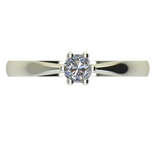 Годежен Пръстен бяло злато с диамант Thin 0,17 ct. 2310 a