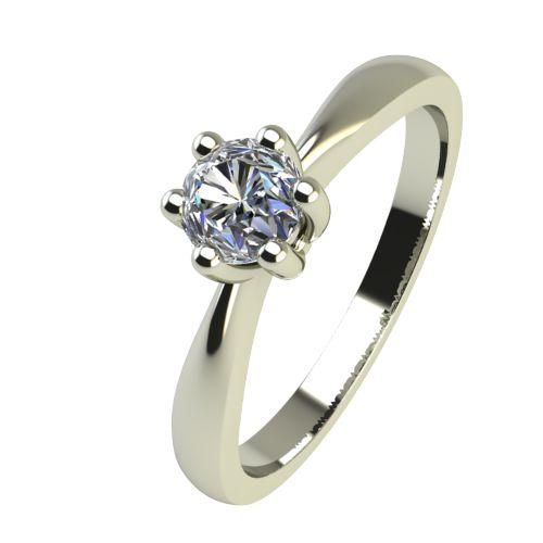 Годежен Пръстен бяло злато с диамант Thin 0,17 ct. 2310