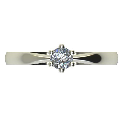 Годежен Пръстен бяло злато с диамант Thin 0,17 ct. 2314 a