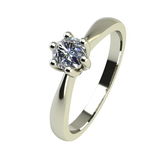Годежен Пръстен бяло злато с диамант Thin 0,17 ct. 2314