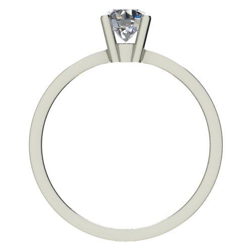 Годежен Пръстен бяло злато с диамант Thin 0,17 ct. 2323 b