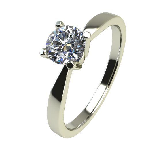 Годежен Пръстен бяло злато с диамант Thin 0,17 ct. 2323